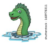 sea serpent  vector illustration | Shutterstock .eps vector #168978311
