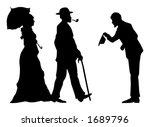 vintage people vector... | Shutterstock .eps vector #1689796