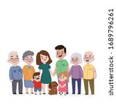 whole family standing together... | Shutterstock . vector #1689796261