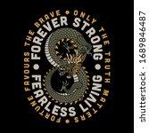 asian dragon makes infinite... | Shutterstock .eps vector #1689846487