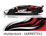 sports car wrapping decal design | Shutterstock .eps vector #1689857311