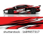 sports car wrapping decal design | Shutterstock .eps vector #1689857317