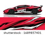 sports car wrapping decal design | Shutterstock .eps vector #1689857401