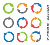 arrow circles | Shutterstock .eps vector #168988205