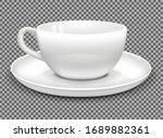 white cup for cappuccino coffee ...   Shutterstock .eps vector #1689882361
