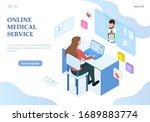 illustrated online medical...   Shutterstock .eps vector #1689883774