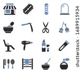 barber shop icons. two tone... | Shutterstock .eps vector #1689915934