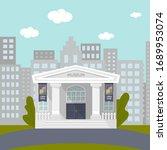 a cartoon illustration of a... | Shutterstock .eps vector #1689953074