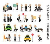 business peoples   isolated on... | Shutterstock .eps vector #168995471