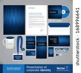 business light blue corporate... | Shutterstock .eps vector #168996641