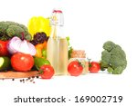 composition with vegetables and ... | Shutterstock . vector #169002719
