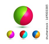 colorful bright glossy spheres... | Shutterstock .eps vector #169003385