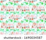 tie dye pattern. batik ikat geo.... | Shutterstock . vector #1690034587