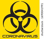 vector coronavirus graphic... | Shutterstock .eps vector #1690041991