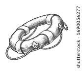 sketch of lifebuoy or vector... | Shutterstock .eps vector #1690056277