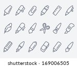 drawing and writing tools icon...
