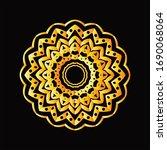 mandala graphic design for art  ... | Shutterstock .eps vector #1690068064