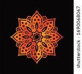 mandala graphic design for art  ... | Shutterstock .eps vector #1690068067