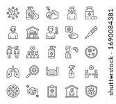coronavirus covid 19 line icon... | Shutterstock .eps vector #1690084381