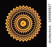 mandala graphic design for art  ... | Shutterstock .eps vector #1690085827