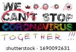 words of coronavirus covid 19...   Shutterstock .eps vector #1690092631