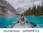 Canoeing At Famous Moraine Lake