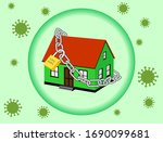 coronavirus lockdown symbol.... | Shutterstock .eps vector #1690099681