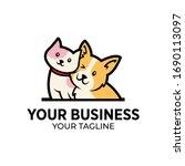 love dog and cat sitting logo... | Shutterstock .eps vector #1690113097