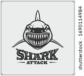 aggressive shark for a sport... | Shutterstock .eps vector #1690114984