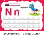 Colorful Letter N Uppercase An...