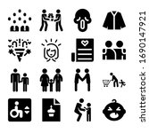 set of 16 happiness filled... | Shutterstock . vector #1690147921