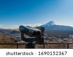 An Old Sightseeing Telescope A...