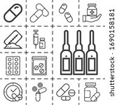 13 outline dose icons set... | Shutterstock . vector #1690158181