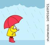 Little Kid In Yellow Raincoat...