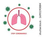 stop coronavirus 2019 ncov with ...   Shutterstock .eps vector #1690190884