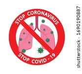 stop coronavirus 2019 ncov with ...   Shutterstock .eps vector #1690190887