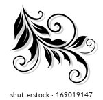 floral embellishment with... | Shutterstock . vector #169019147