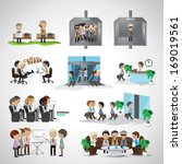 business peoples   isolated on... | Shutterstock .eps vector #169019561