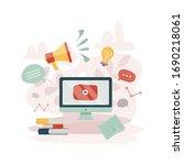 news update concept. latest... | Shutterstock .eps vector #1690218061