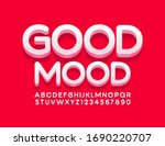vector modern card good mood... | Shutterstock .eps vector #1690220707