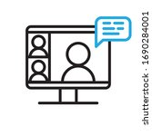 video conference icon. people... | Shutterstock .eps vector #1690284001