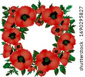 Red Poppies. Floral Frame ...