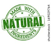 made with natural ingredients... | Shutterstock .eps vector #169029764