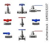 set valves ball  fittings ... | Shutterstock .eps vector #1690315237
