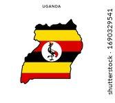 map and flag of uganda vector... | Shutterstock .eps vector #1690329541