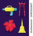 thai water festival elements ... | Shutterstock .eps vector #1690332667