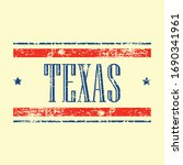 american texas state text... | Shutterstock .eps vector #1690341961