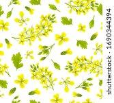 seamless background of flower...   Shutterstock .eps vector #1690344394