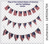 bright set with flags of usa... | Shutterstock .eps vector #1690346704