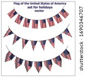 bright set with flags of usa... | Shutterstock .eps vector #1690346707